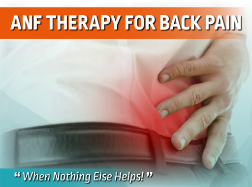 back pain, pain therapy, back issues, anf therapy