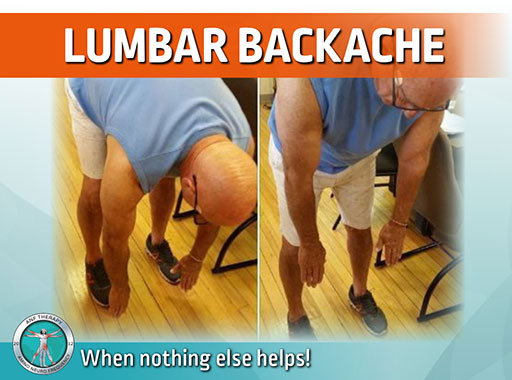 lumbar backache, back pain, lower back pain, inflammation, lumbar pain, pain therapy,
