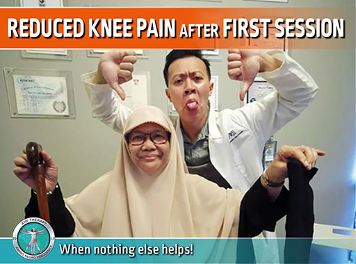 knee pain, pain therapy, chronic pain, anf therapy